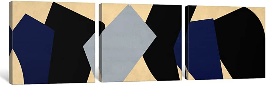 "iCanvasART MA312 现代艺术 - 六块钱币帆布印刷品,50.80 cm x 1.91 cm x 152.40 cm 48"" x 16"" MA312-3PC6-48x16"