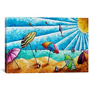 iCanvasART MDN5 Beach Life I by Megan Duncanson Canvas Print, 26 by 18-Inch, 1.5-Inch Deep