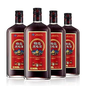 椰岛牌鹿龟酒 500ml/瓶*4瓶 补酒实惠套装 给长辈礼品父亲的补酒