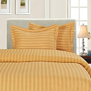 Elegant Comfort® Silky-Soft 1500 Thread Count Egyptian Quality Wrinkle-Free 3-Piece Duvet Cover Set, Full/Queen, Gold