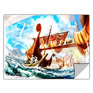 ArtWall ArtApeelz Luis Peres 'Old Times 4' Removable Wall Art Graphic, 12 by 24-Inch