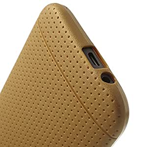 Champagne Gold 适用于 HTC One M8 凹点设计柔韧 TPU 外壳