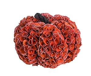 Transpac 木制 小号收割玫瑰南瓜,红色