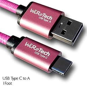 WiRO USB A 型至 USB C 型 1 Foot 浅粉色