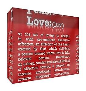 Feel Good Art 21 x 14 X 2 厘米 A5 大字典爱情装饰钻石抛光亚克力令牌 - 父母 红色 LVDC-A5BLK-09