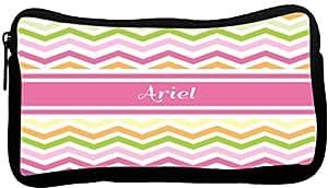 Rikki Knight Ariel Pink Chevron Name Neoprene Pencil Case (dky-Neo-pc6324)