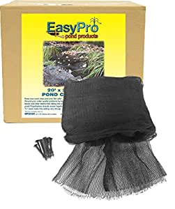 EasyPro NP1515 Premium 3/4-Inch Pond Cover Netting, 15' x 15' with 8 Stakes