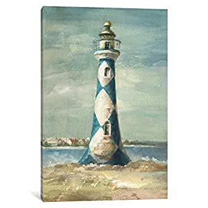 iCanvasART WAC198 Lighthouse IV Canvas Print by Danhui Nai, 18 by 12-Inch, 0.75-Inch Deep