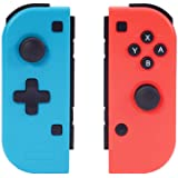 Althemax Joy-Con (L/R) 对无线专业控制器兼容任天堂切换陀螺仪轴游戏手柄 Joypad joycon Red (无线红色和蓝色)