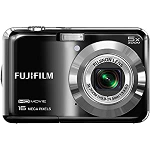 "Fujifilm FinePix AX655 - 16 Megapixel Digital Camera with 5x Optical Zoom, HD 720p Video Recording, 2.7"" LCD Display - Black (Certified Refurbished)"