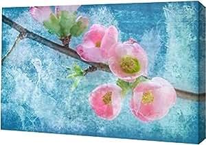 "PrintArt GW-POD-11-PSMHN-566-12x8""Flowering Quince III"" 由 Kathy Mahan 创作画廊装裱艺术微喷油画艺术印刷品,30.48 cm x 20.32 cm"