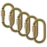 Fusion Climb Ovatti 钢螺丝锁椭圆形登山扣 5 件装