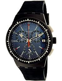 Swatch 斯沃琪 瑞士品牌 果冻计时系列 石英男女适用手表 深蓝之石 SUSN410