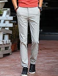 MPSMOVE 思慕夫 《棉麻系列》2018夏季新款直筒休闲裤子男士修身男款休闲长裤HR1513【409】