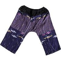 Raan Pah Muang RaanPahMuang 织纹厚 Chomtong 棉 儿童宽松弹性腰裤