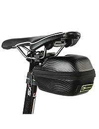 ROCKBROS山地自行车尾包鞍座包防水硬壳后坐垫包碳纤维纹骑行装备