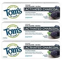 Tom's of Maine 深灰色防蛀牙膏(含氟化物)牙膏,3 支装