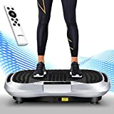 Icefox Vibro Shaper, Profi 3D 双电机健身振动板带蓝牙 4.0 扬声器/LCD 显示屏&遥控器 / 10 训练程序 - 180 级别