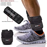 spq 1.5 千克,2.5 千克,5KG 手腕脚踝配重运动健身健身阻力训练重量,可拆卸重量