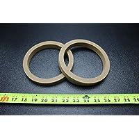 2 个 MDF 扬声器环形垫片,5.25 英寸木质 3/4 厚玻璃纤维盒环-5.25R