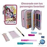 Disney Princess 三件套铅笔盒,带完整文具套件 (Cife 41408)