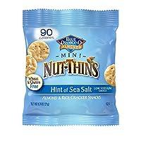 Blue Diamond Gluten Free Mini Nut-Thins Cracker Crisps, Hint of Sea Salt, 0.71 Ounce (Pack of 6)