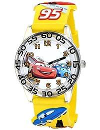 "Disney W001506""Time Teacher""迪士尼兒童汽車手表 帶黃色 3-D 表帶"
