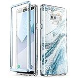三星 Galaxy Note 9 手机壳,【内置屏幕保护膜】i-Blason 【Cosmo】全机壳闪光防撞保护套适用于 Galaxy Note 9(2018 版) 蓝色