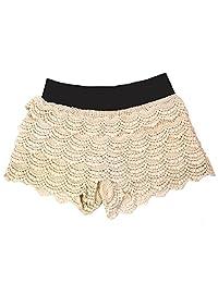 ELAN 女式 Boho 钩针蕾丝短裤