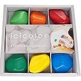 AOZORA 日本制造原装 icicolor彩色石头蜡笔 6色