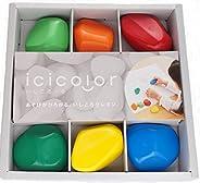 icicolor 石块蜡笔 6色套装