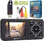 ClearClick 视频数字转换器 2.0 (*二代) - 从 VCR、VHS 磁带、AV、RCA、H8、摄录机、DVD、游戏系统录制视频(捆绑版)