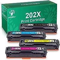 GREENSKY 兼容惠普 202X CF500X 202A CF500A HP M281fdw M254dw 墨粉盒,適用于彩色激光打印機 Pro MFP M281fdw M281cdw M254dw M254dn M254nw M280 M281 打印機 CF500X CF502X CF503X