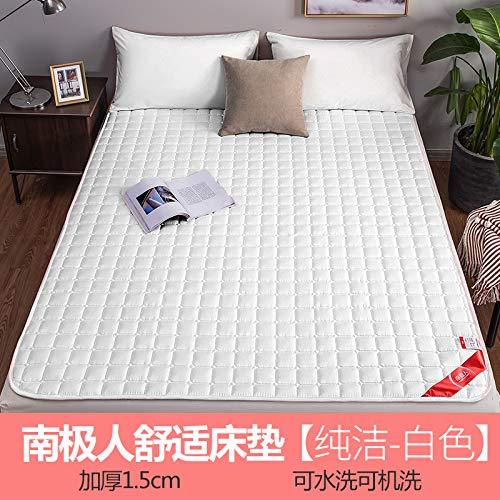 水漾 薄款床垫垫子1.8x2.0米垫被家用床褥褥子防滑保护垫榻榻米 纯洁-白色 180 * 200cm