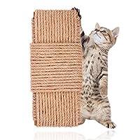 Kama Cat 抓挠绳,黄麻绳,用于猫树家具花盆 DIY 猫抓挠绳用于修复替换 6 毫米 66 英尺 6mm 66FT