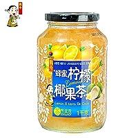 韩今(韩国) 蜂蜜柠檬椰果茶1Kg(韩国进口)(亚马逊自营商品, 由供应商配送)