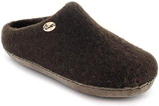 WoolFit 手工拖鞋,男女皆宜,带足弓支撑羊毛鞋垫和柔软地板的鞋底