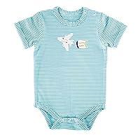 Stephan Baby 运输系列蓝色条纹按扣式尿布套,飞机,3-6 个月
