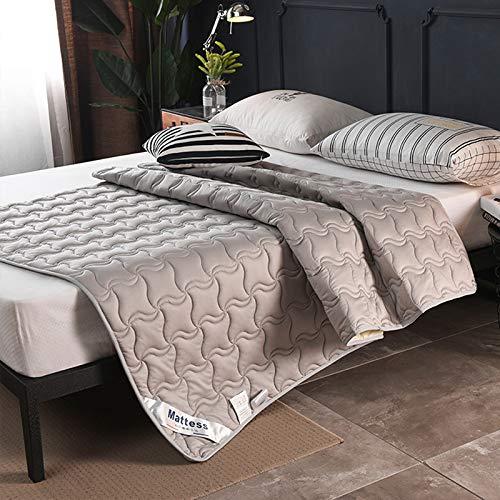 水漾 全棉床垫床褥垫子家用1.8x2.0米垫被1.5m褥子加厚保护垫1.2 薄款1.5cm-灰色 120 * 200cm