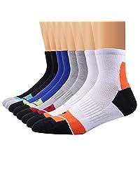 Ambielly 运动男士袜 4 双运动训练袜 篮球足球袜,适合户外运动、跑步、徒步、网球
