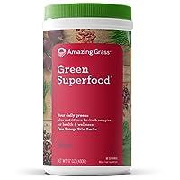 Amazing Grass -SuperFood飲料粉末 60 服務莓果味道 - 17盎司