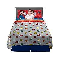 Nintendo 任天堂 床单套装,超细纤维,4件装,大号