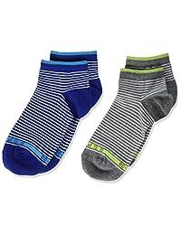 ESPRIT 思捷 儿童运动袜 细条纹 2 件装 - 82% 棉,2 双,混色。 颜色,尺寸 23-42 - 条纹外观,两件装