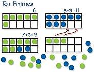 Learning Resources 巨型磁性十框套裝,課堂數學教學套裝,磁性白板套裝,4件套,適合5歲以上兒童