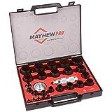 Mayhew Pro 1/8-英寸到 1-3/16 英寸Imperial SAE 空心打孔套装 1/8-Inch to 2-Inch 27 piece 黑色 66002