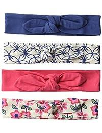 touched 来自大自然女婴4件装有机棉头巾,0–24个月