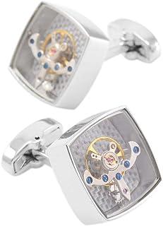 Tourbillon 袖扣蒸汽朋克手表机械婚礼袖扣
