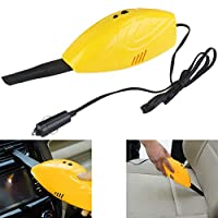 PIXNOR 汽车吸尘器 12V 吸尘器集尘器(黄色)
