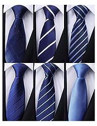 weishang 6件装男式经典领带真丝领带梭织提花领 ties