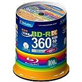 三菱ケミカルメディア Verbatim 1回録画用 BD-R VBR260RP100SV1 (片面2層/1-6倍速/100枚)